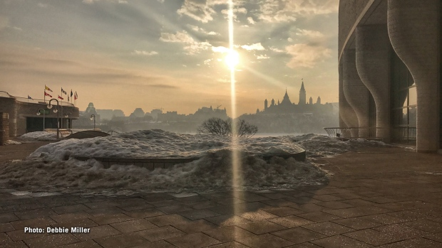 Gorgeous morning at the Canadian Museum of History on Thursday, Feb. 23, 2017. (Debbie Miller/CTV Ottawa)