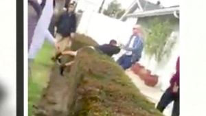 Bizarre altercation between L.A. cop and teens