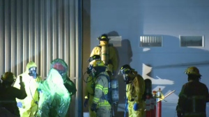 A warehouse in the industrial district of L'Assomption suspected of being a drug lab was raided early Friday morning.