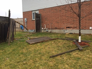 Fence and house damaged in occurrence on Highbrook Street on Friday, February 24, 2017