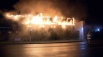 A used furniture warehouse in Burnaby, B.C., was completely destroyed by a fire on Feb. 24, 2017. (CTV)