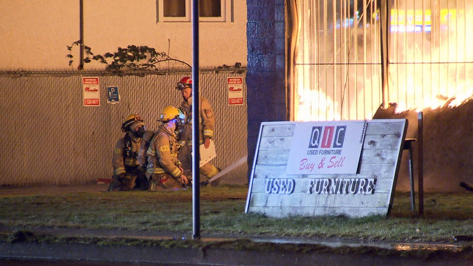 Fire tore through a warehouse in Burnaby, B.C., quickly, and the building could not be saved.