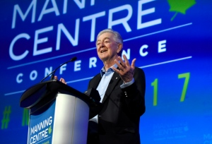 Preston Manning speaks at the opening of the Manning Centre conference, on Friday, Feb. 24, 2017 in Ottawa. (Justin Tang / THE CANADIAN PRESS)