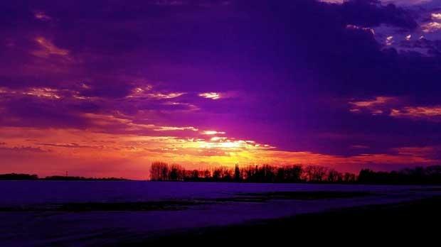 Stunning sunset hues. Photo by Matthew.