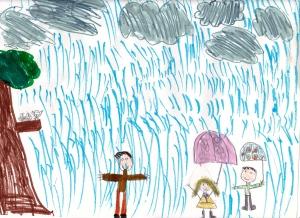 Weather art by Georgia, age 8.