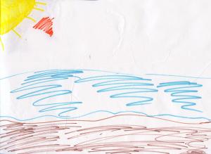Weather art by Carolyn, age 7.