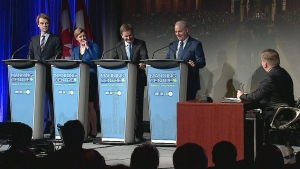 Conservative leadership candidates debate at the Manning Conference in Ottawa, Friday, Feb. 24, 2016.