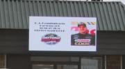 St. Thomas celebrates D.J. Kennington's success in qualifying for Daytona 500.