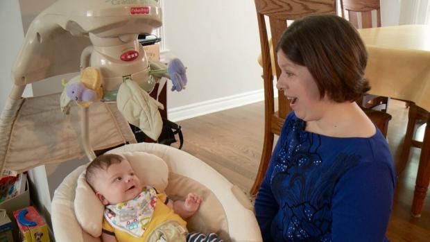 Claudia Gorenko with 4-month-old Benjamin.