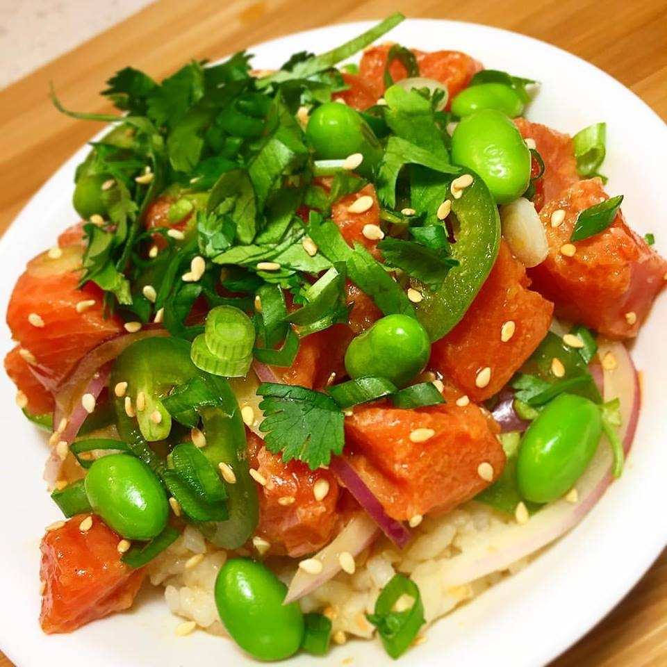 A citrus salmon poke with yuzu ponzu from Hooked. (Facebook)