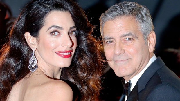 Amal Clooney Wore a Formfitting White Gown for the César Awards