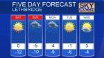 Lethbridge forecast Feb 24, 2017