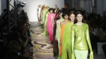 Models wear creations part of the Emilio Pucci women's Fall-Winter 2017-18 collection, that was presented in Milan, Italy, Wednesday, Feb. 22, 2017. (AP / Antonio Calanni).