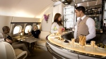 Emirates A380 Onboard Lounge. (Emirates Airlines)