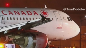 CTV News Channel: 'Plane appeared to lurch:'