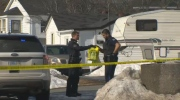 Halifax Regional Police on the scene of a stabbing in Dartmouth that occurred in the afternoon hours of Saturday, Feb. 25, 2017.