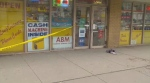 A man in his 20s has been taken to hospital with serious injuries after a stabbing near Dundas and Church streets on Feb. 25, 2017.