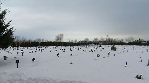 Muslim cemetery located near Montreal, QC. (CTV)