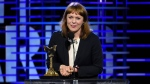 Maren Ade accepts the award for best international film for 'Toni Erdmann' at the Film Independent Spirit Awards on Saturday, Feb. 25, 2017, in Santa Monica, Calif. (Photo by Chris Pizzello / Invision/AP)