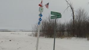 U.S.-Canada border near Emmerson, Manitoba. (CTV)