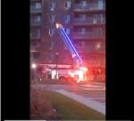 A fire at apartment building on Fanshawe Park Road on Saturday, February 25, 2017, kills an elderly woman. (Twitter / @DestyDezxo)