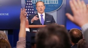 White House Press secretary Sean Spicer takes questions from the media during the daily briefing in the Brady Press Briefing Room of the White House in Washington, Tuesday, Feb. 14, 2017. (AP Photo/Pablo Martinez Monsivais)