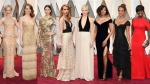 From Emma Stone's fringed flapper frock, to Nicole Kidman's Champagne-coloured Armani Prive dress  to Jessica Biel's edgy textured gold gown, many of Hollywood's leading ladies opted for lighter hues for the Oscar red carpet on Sunday night.