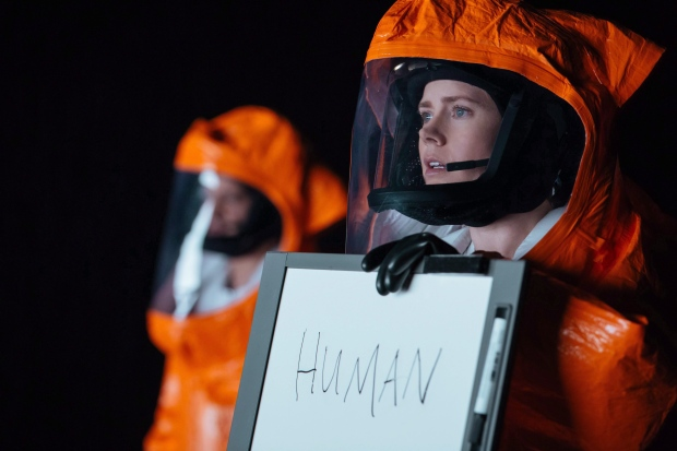 "This undated photo provided by Paramount Pictures shows Amy Adams, right, as Louise Banks in ""Arrival"" by Paramount Pictures. (AP-Jan Thijs/Paramount Pictures via AP)"
