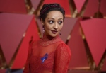 Ruth Negga arrives at the Oscars on Sunday, Feb. 26, 2017, at the Dolby Theatre in Los Angeles. (Richard Shotwell/Invision/AP)