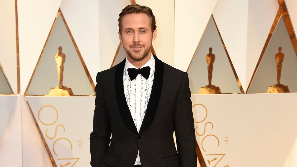 Ryan Gosling arrives at the Oscars on Sunday, Feb. 26, 2017, at the Dolby Theatre in Los Angeles. (Photo by Jordan Strauss/Invision/AP)