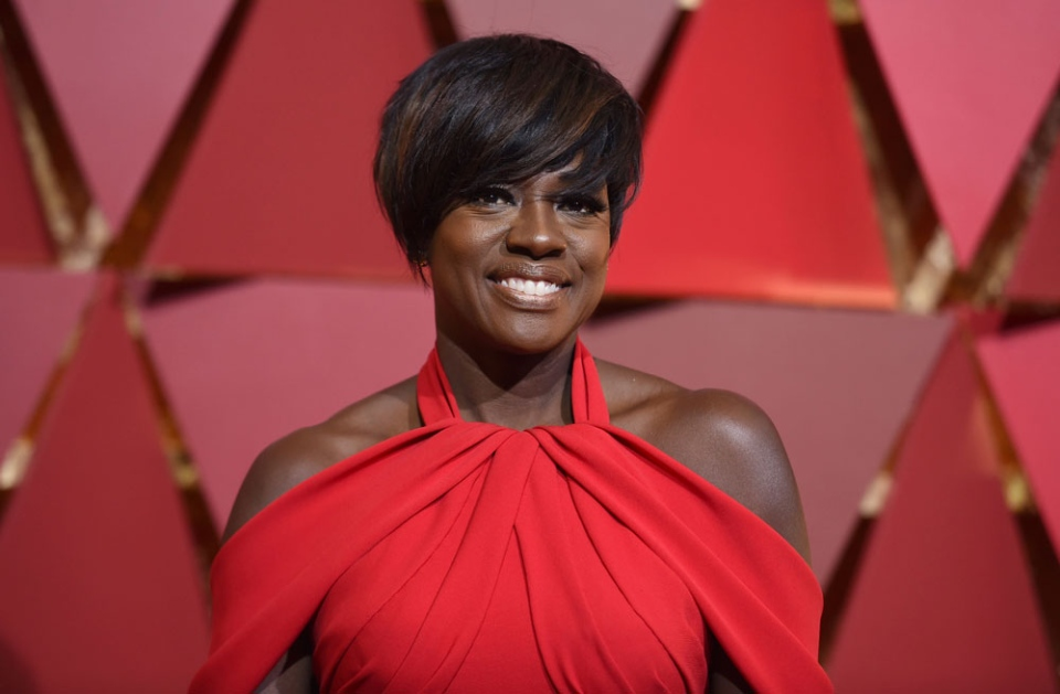 Viola Davis arrives at the Oscars on Sunday, Feb. 26, 2017, at the Dolby Theatre in Los Angeles. (Photo by Richard Shotwell/Invision/AP)