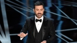 Host Jimmy Kimmel speaks at the Oscars at the Dolby Theatre in Los Angeles on on Sunday, Feb. 26, 2017. (Chris Pizzello / Invision)