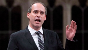 NDP MP Guy Caron rises during question period in the House of Commons Wednesday April 30, 2014 in Ottawa. (Adrian Wyld/The Canadian Press)