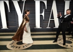Jessica Biel, left, and Justin Timberlake arrive at the Vanity Fair Oscar Party on Monday, Feb. 27, 2017, in Beverly Hills, Calif. (Photo by Evan Agostini/Invision/AP)