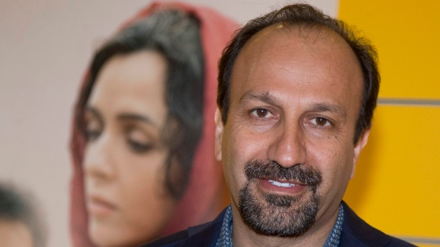 "Iranian director Asghar Farhadi poses for a photo during the premiere of his film, ""The Salesman, in Paris on Oct. 10, 2016. (Michel Euler/AP)"