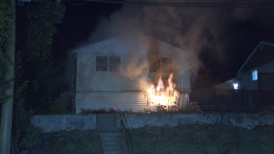 Fire investigators are expected back at the scene of a house fire in Burnaby this morning to search for a cause, although officials say the blaze does not appear suspicious.