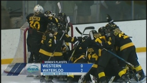 UW wins first playoff series in OUA women's hockey