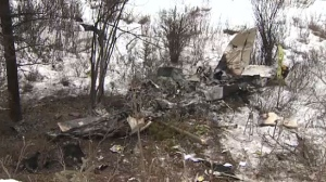 The plane collided with terrain 32 nautical miles northwest of the Springbank Airport.