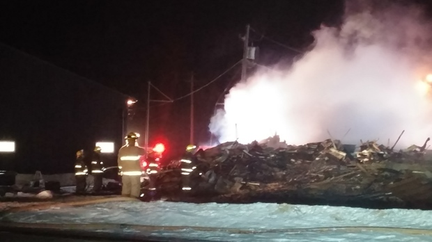 A century-old hotel in Letellier was destroyed by a fire.(Sylvio Sarrasin)