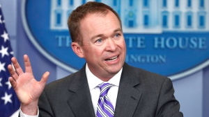 Budget Director Mick Mulvaney speaks to reporters during a daily press briefing at the White House in Washington, Monday, Feb. 27, 2017. (AP Photo/Manuel Balce Ceneta)