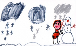 Weather art by Ayden, age 7, from Strathcona Elementary School.