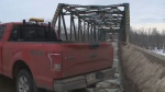 The Lincoln Bridge remains closed to traffic after being significantly damaged by a dump truck last week.