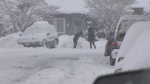 Just when Fraser Valley residents thought it was safe to put away their shovels, another dump of snow hit Monday. Feb. 27, 2017. (CTV)