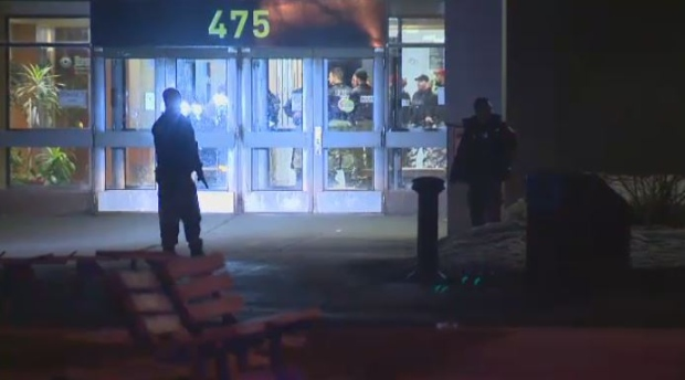 Police carried out an operation at College Montmorency Monday night.