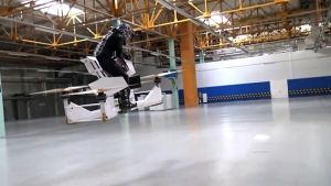 The Hoverbike by Hoversurf is seen in this provided photo. © Courtesy of Hoversurf