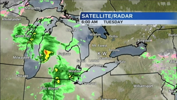Heavy rain possible for Tuesday night