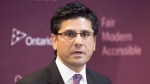 Ontario Attorney General Yasir Naqvi announces the Juror Support Program at a news conference in Hamilton, Ont. on Tuesday, Jan. 31, 2017. (Frank Gunn/The Canadian Press)
