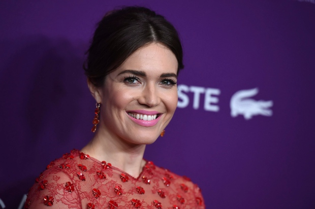 Mandy Moore arrives at the 19th Annual Costume Designers Guild Awards at the Beverly Hilton on Tuesday, Feb. 21, 2017 in Beverly Hills, Calif. (Photo by Jordan Strauss/Invision/AP)