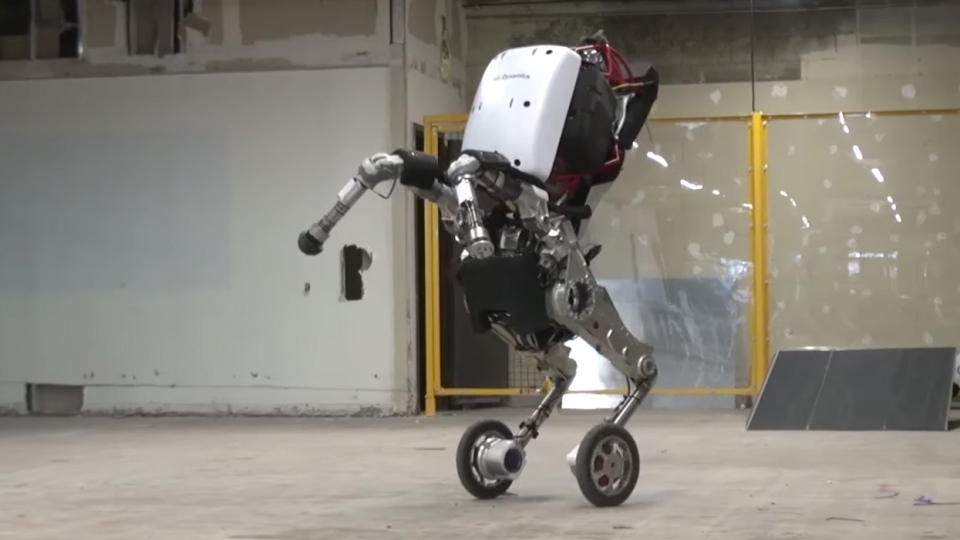 The Handle robot from Boston Dynamics is shown in this video posted on YouTube on Feb. 27, 2017.