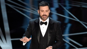 Host Jimmy Kimmel speaks at the Oscars on Sunday, Feb. 26, 2017, at the Dolby Theatre in Los Angeles. (Photo by Chris Pizzello / Invision / AP)